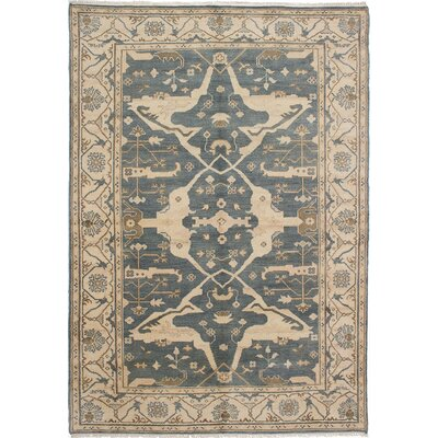 Li Traditional Hand-Knotted Dark Gray Area Rug