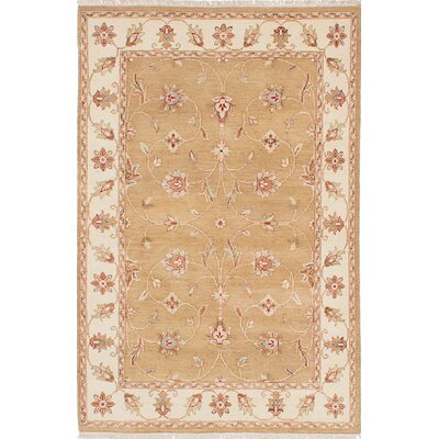 One-of-a-Kind Charlena Hand-Knotted Dark Gold Area Rug