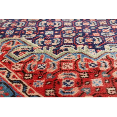 One-of-a-Kind Rosas Hand-Knotted Red Area Rug