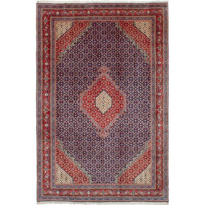 Rosas Hand-Knotted Red Area Rug