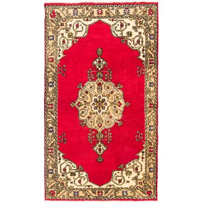 Eugenie Hand-Knotted Red Area Rug
