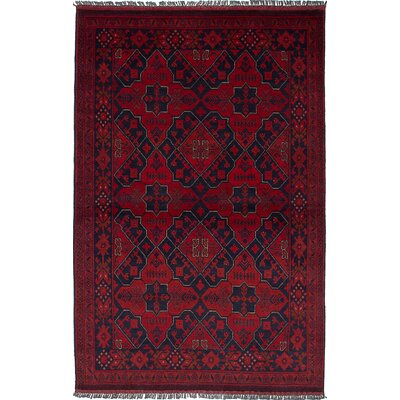 One-of-a-Kind Bouldercombe Hand-Knotted Rectangle Red Wool Area Rug