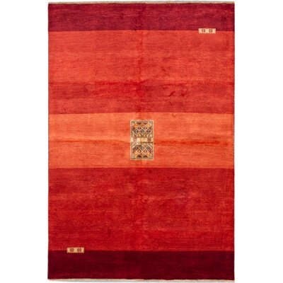One-of-a-Kind Kadyn Hand-Knotted Red Area Rug