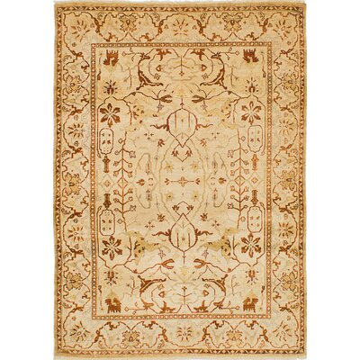 Talleyran Hand-Knotted Cream Area Rug