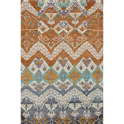 Houston Hand-Knotted Burnt Orange Area Rug