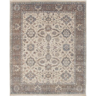 Talleyran Hand-Knotted Rectangle Cream Area Rug