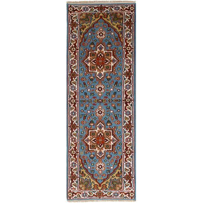 One-of-a-Kind Larsen Hand-Knotted Sky Blue Area Rug