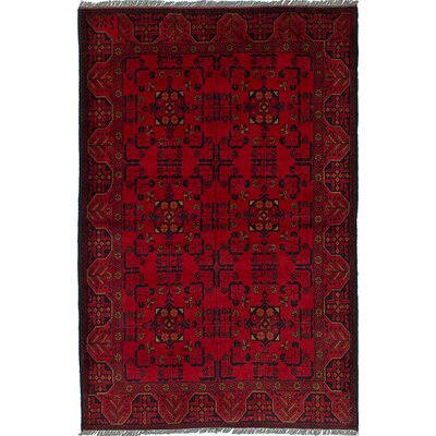 Bouldercombe Traditional Hand-Knotted Oriental Red Area Rug