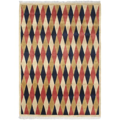 Bryson Hand-Knotted Light Yellow Area Rug