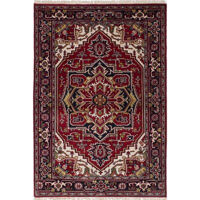 One-of-a-Kind Briggs Hand-Knotted Red Area Rug