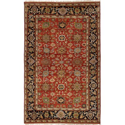 One-of-a-Kind Briggs Hand-Knotted Red Oriental Area Rug