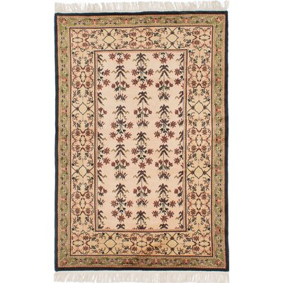 One-of-a-Kind Charleena Hand-Knotted Ivory Area Rug