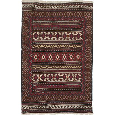 Qashqai Hand-Woven Dark Brown/Red Area Rug