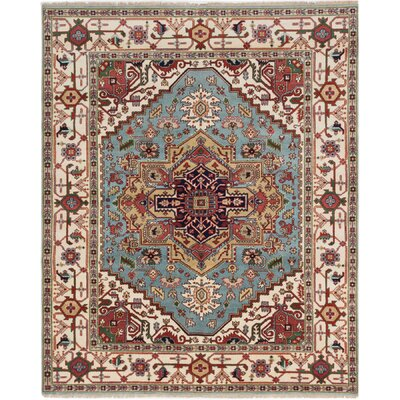 Briggs Hand-Knotted Light Blue/Beige Area Rug
