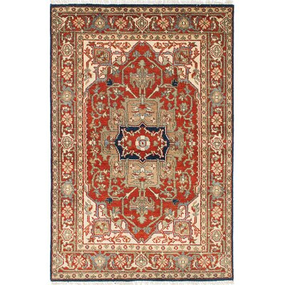 Serapi Heritage Hand-Knotted Beige/Dark Orange Area Rug