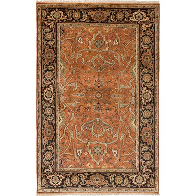 Briggs Hand-Knotted Rectangle Copper Area Rug