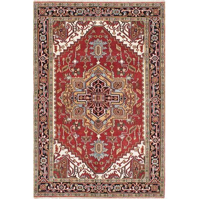 Briggs Hand-Knotted Black/Copper Area Rug