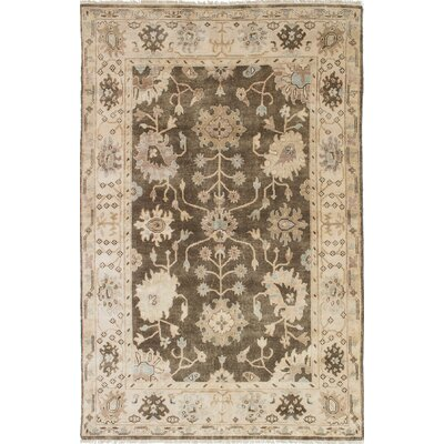 Royal Ushak Hand-Knotted Brown/Light Yellow Area Rug