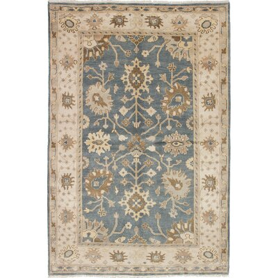 One-of-a-Kind Li Hand-Knotted Rectangle Gray Area Rug