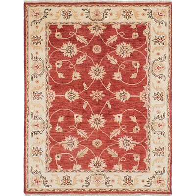 Barrows Hand-Knotted Red Area Rug