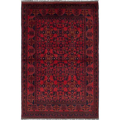 One-of-a-Kind Bouldercombe Traditional Hand-Knotted Rectangle Red Area Rug