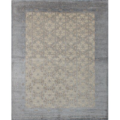 La Seda Hand-Knotted Cream Area Rug