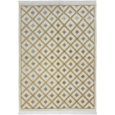 Bryson Hand-Knotted Cream Area Rug