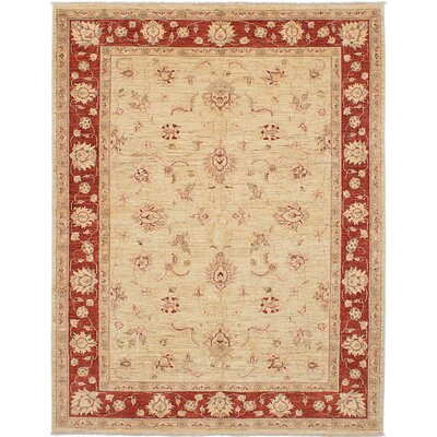 Wagner Hand-Knotted Cream/Dark Copper Area Rug