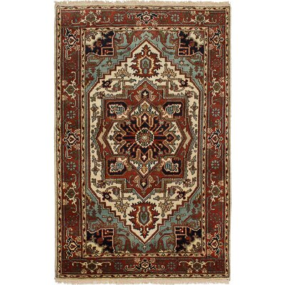 One-of-a-Kind Briggs Hand-Knotted Rectangle Dark Copper Area Rug