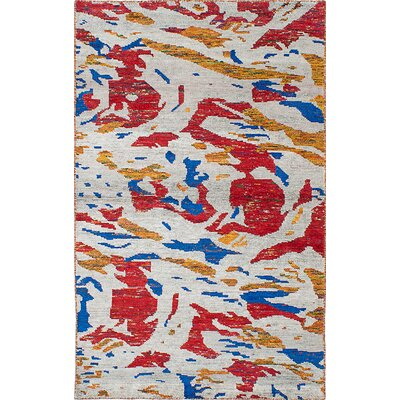 Dennisec Hand-Knotted Light Gray Area Rug