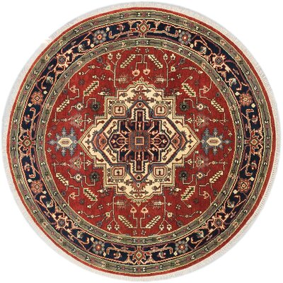 One-of-a-Kind Briggs Traditional Hand-Knotted Dark Copper Area Rug