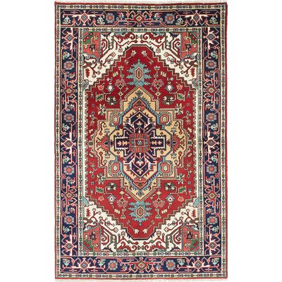 Briggs Hand-Knotted Rectangle Dark Burgundy Area Rug