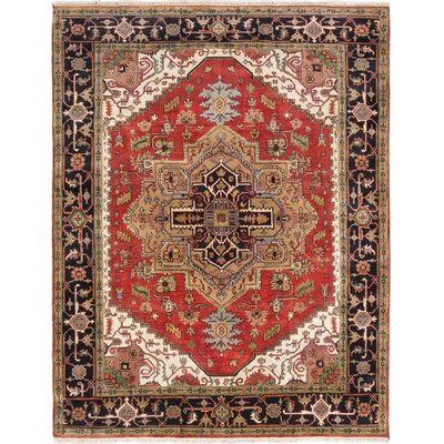 Briggs Hand-Knotted Oriental Rectangle Dark Copper Area Rug