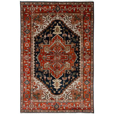 One-of-a-Kind Briggs Hand-Knotted Dark Copper Wool Area Rug