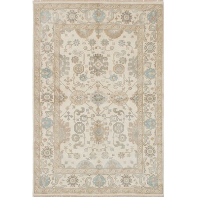 One-of-a-Kind Li Hand-Knotted Cream Area Rug Rug Size: 510 x 88