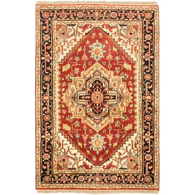 One-of-a-Kind Briggs Hand-Knotted Oriental Dark Copper Area Rug