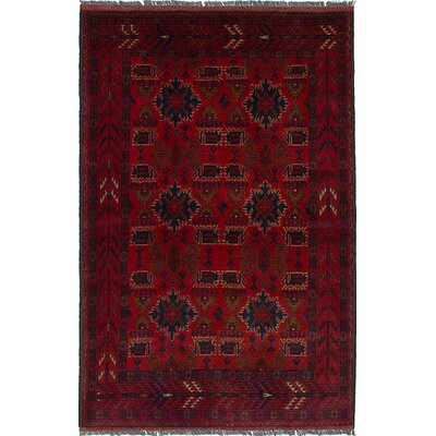 One-of-a-Kind Bouldercombe Hand-Knotted Red Area Rug