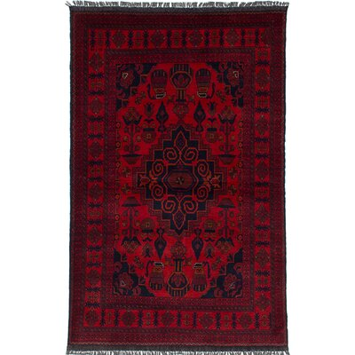 One-of-a-Kind Bouldercombe Traditional Hand-Knotted Red Wool Area Rug