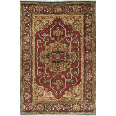 One-of-a-Kind Briggs Hand-Knotted Beige/Dark Red Area Rug
