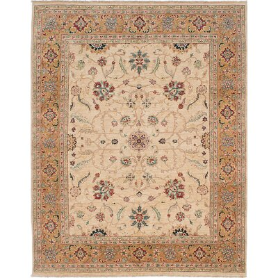 Wagner Hand-Knotted Rectangle Ivory Area Rug