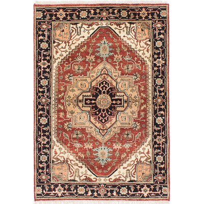 Briggs Traditional Hand-Knotted Rectangle Dark Copper Area Rug