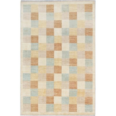 One-of-a-Kind Maplewood Hand-Knotted Cream Area Rug