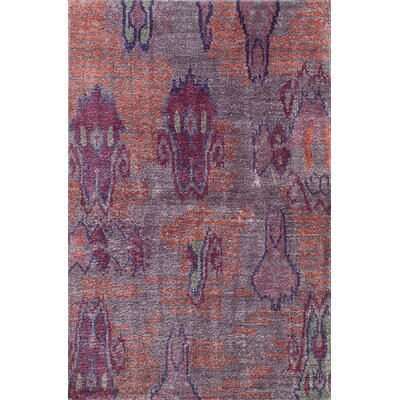Dennise Hand-Knotted Gray Area Rug