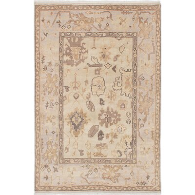 One-of-a-Kind Li Traditional Hand-Knotted Cream Area Rug