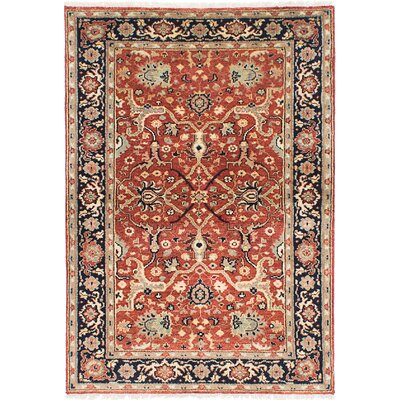 One-of-a-Kind Briggs Traditional Hand-Knotted Rectangle Oriental Dark Copper Area Rug