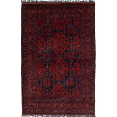 Bouldercombe Traditional Hand-Knotted Red Area Rug
