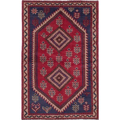 One-of-a-Kind Witt Hand-Knotted Red Area Rug