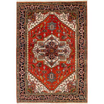 Briggs Hand-Knotted Cream/Orange Area Rug