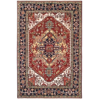 Briggs Hand-Knotted Rectangle Red Area Rug