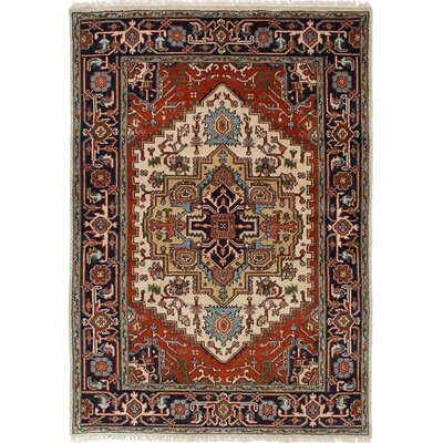 Briggs Traditional Hand-Knotted Cream/Dark Copper Area Rug